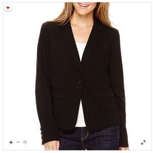 Liz Claiborne Long-Sleeve Suit Blazer in Black